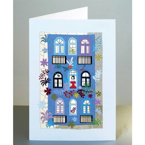 Forever Cards Purple house Laser cut card