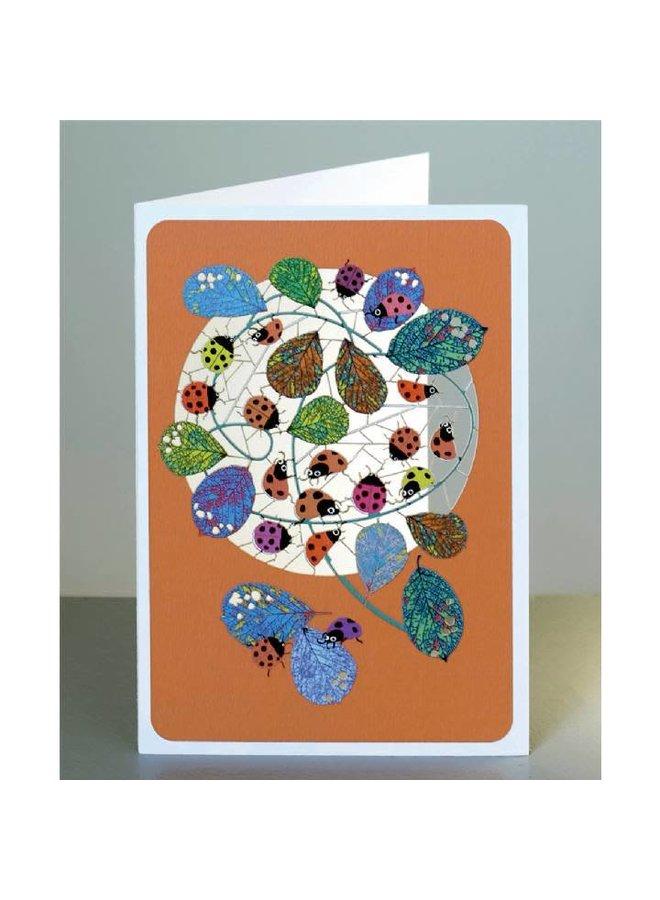 Ladybirds Lasergeschnittene Karte Lasergeschnittene Karte
