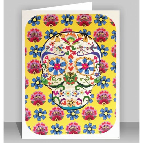 Forever Cards Yellow Skull Laser cut card