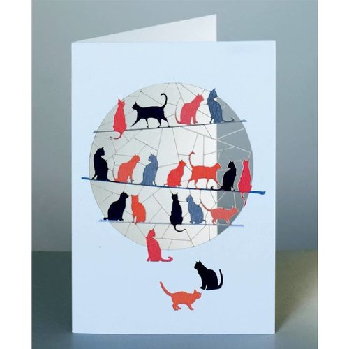 Forever Cards Lazer cut cats