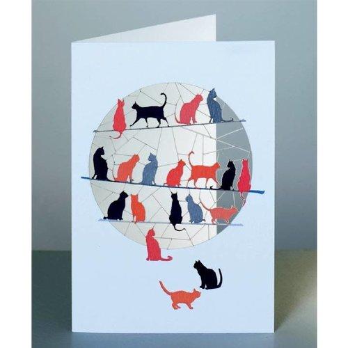 Forever Cards Tarjeta de corte laser 2 gatos