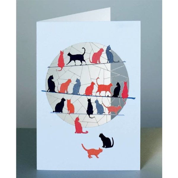 Katzen Laser geschnittene Karte 2