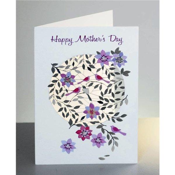 Tarjeta del corte del laser del día feliz de las madres y de las flores