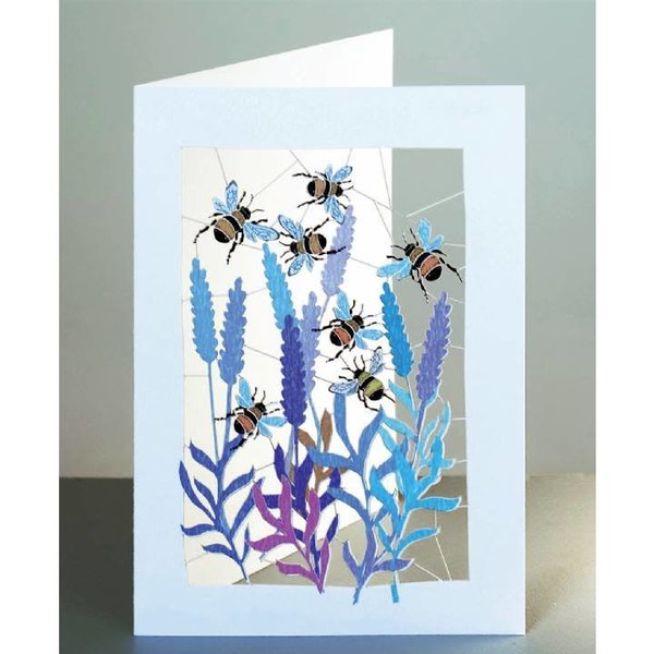 Bumble Bees Laser cut card