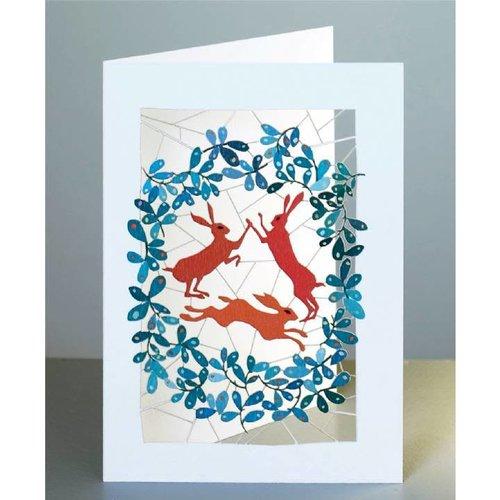 Forever Cards 3 Hares Laser cut card