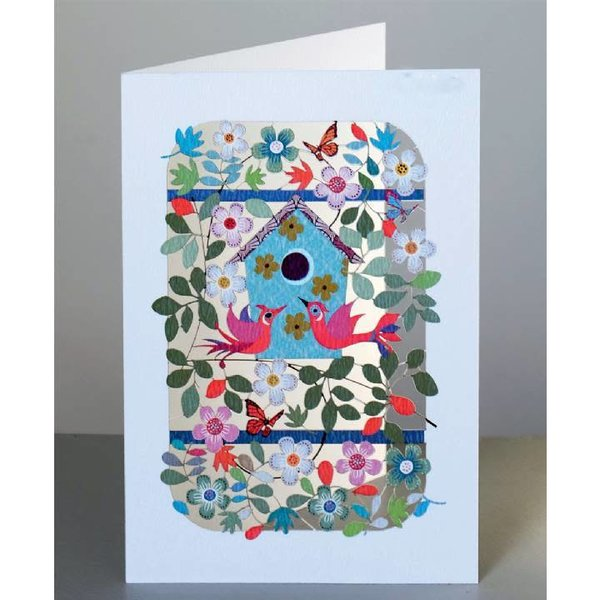 Birds and nestbox Laser cut card