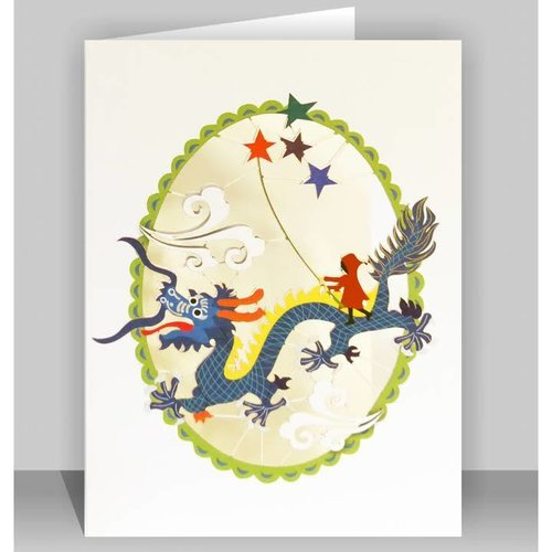 Forever Cards Chinese dragon Laser cut card