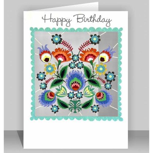 Forever Cards Herzlichen Glückwunsch zum Geburtstag Blüten Laser geschnittene Karte