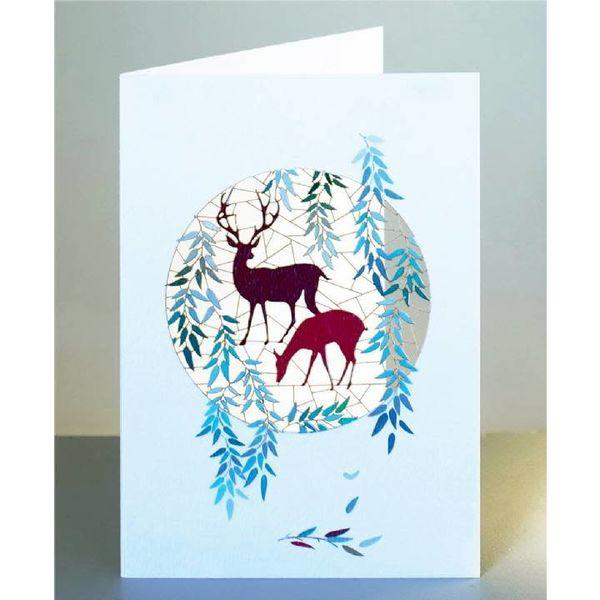 Deer Laser cut card