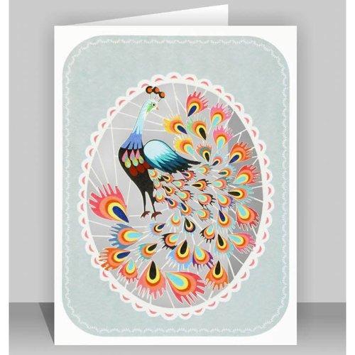 Forever Cards Orange Peacock