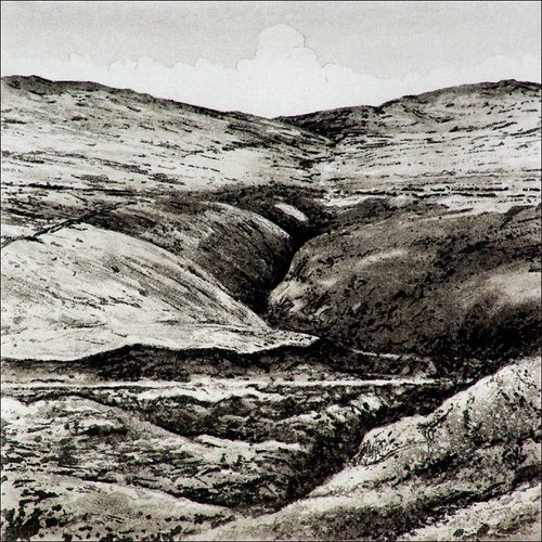 Ian Brooks Bond Clough - etching  004 unframed