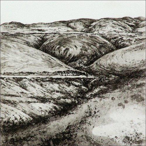 Ian Brooks Bond Clough Hill- etching  006 unframed