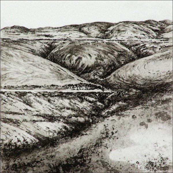 Bond Clough Hill- etching  006 unframed