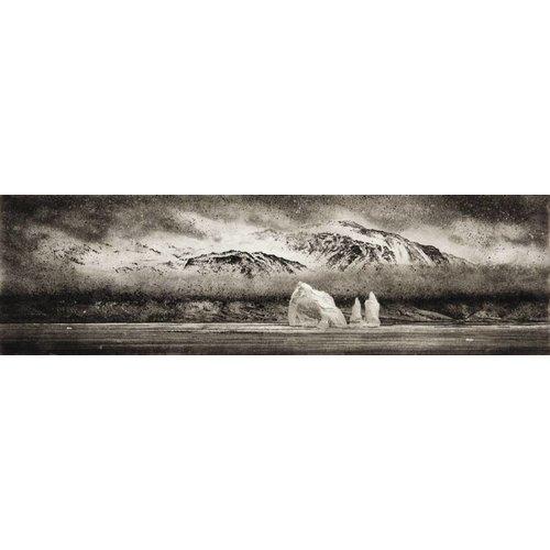Ian Brooks Iceberg en Cumberland East Bay - grabado al aguafuerte 001 enmarcado