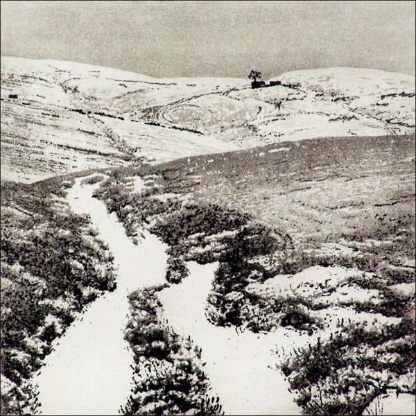 Snow At Top Withens - etching  007 framed