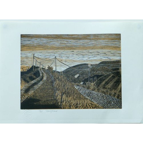 Anita J Burrows Going Home - Woodcut Framed 020