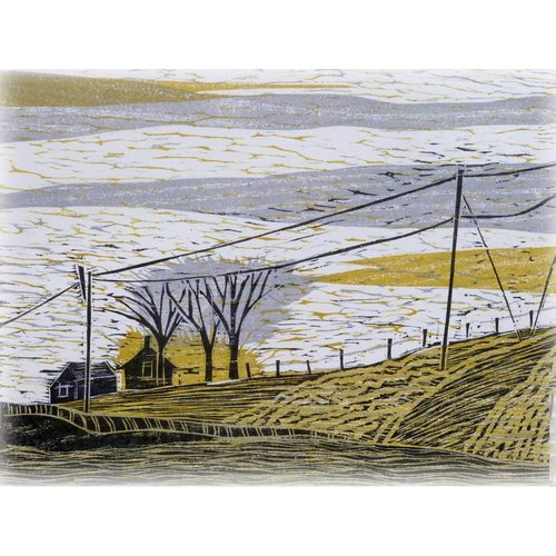 Anita J Burrows Towards the Widdop Gate - Woodcut Framed 023
