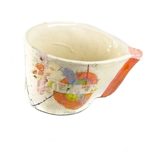 John Cook Ceramics Orange Bucket Lustres 004