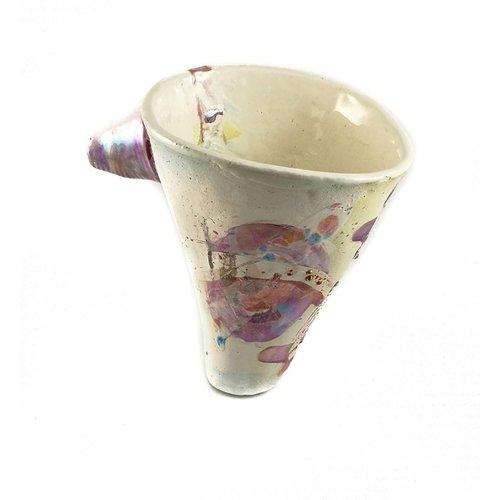 John Cook Ceramics Cubo morado Lustres 002