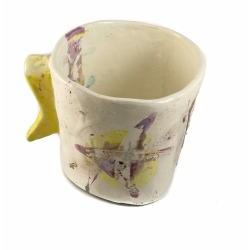 John Cook Ceramics Cubo Amarillo Lustres 003