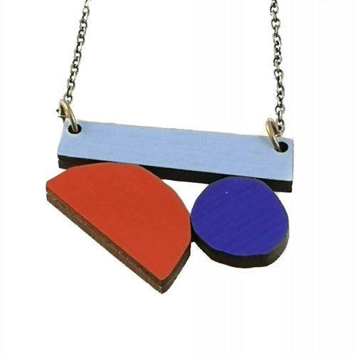 Materia Rica Composition  Abstract necklace 005