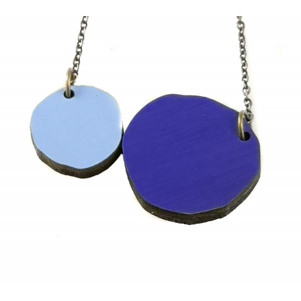 Two Circles  Abstract necklace 003