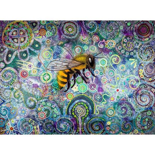 Schamanische Biene Giclée-Druck groß 033
