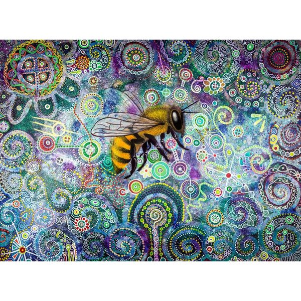 Shamanic Bee giclee print large 033