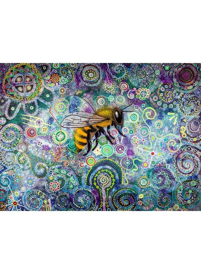 Shamanic Bee Giclée Druck groß 033