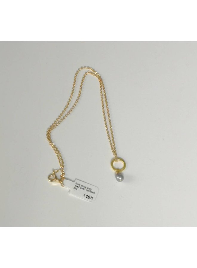 Goldene graue Samenkorn-Halskette 064