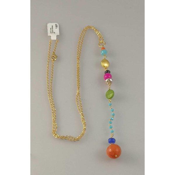 """Tropische Halskette """"Gold X Long"""" 059"""