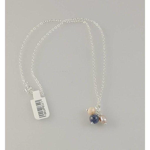 Silberhalskette aus Cluster 3 063