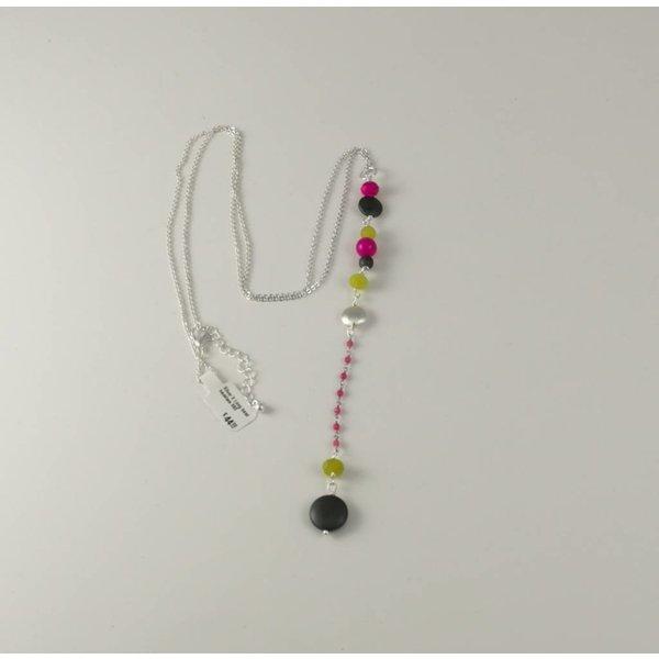 Silber X Lange Perlenkette 060