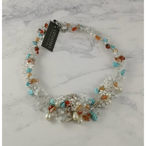 Lotus Feet Hawaii multi bead necklace 053
