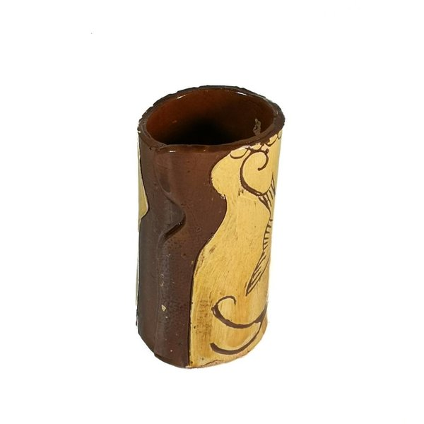 Vögel im Flug Slipware Vase 006