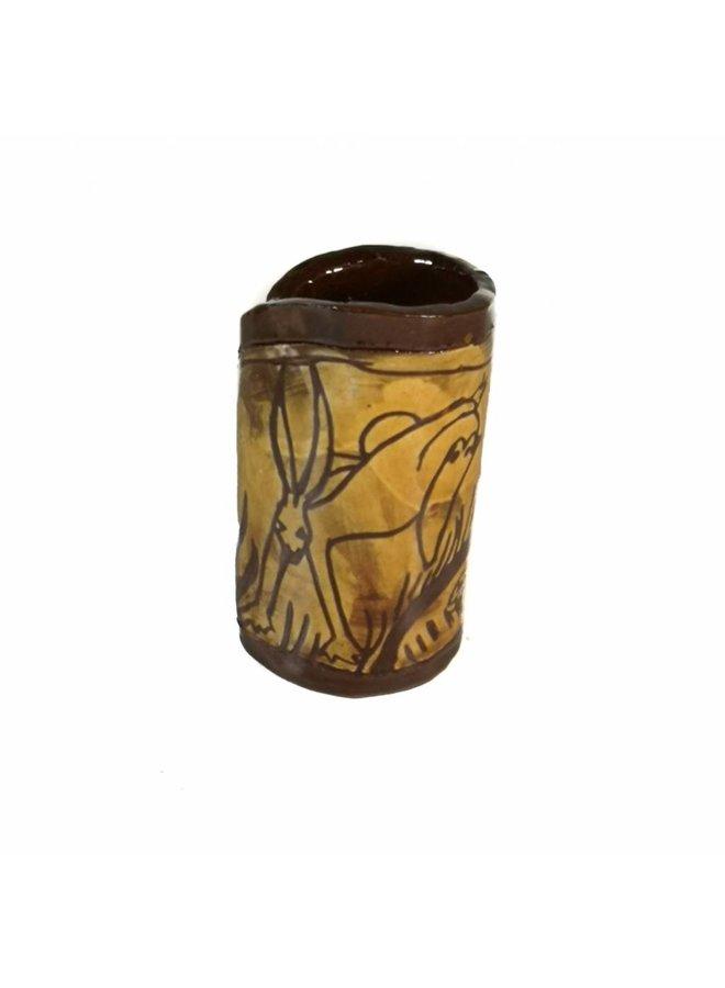 Hase und Sonne Slipware Vase 008