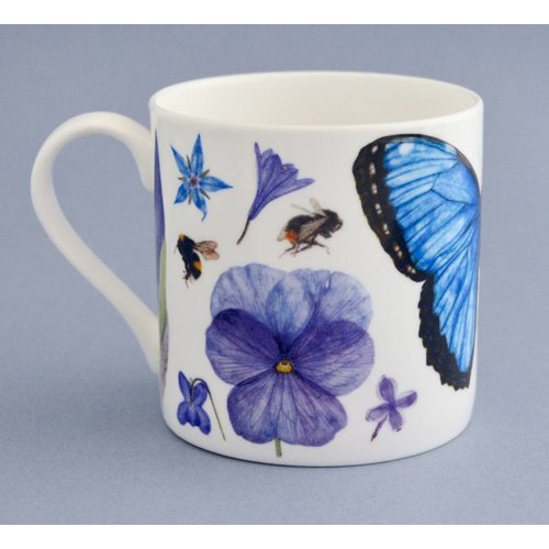 Rachel Pedder-Smith China flora y fauna taza principalmente azul 002