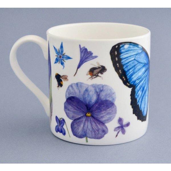 China flora y fauna taza principalmente azul 002