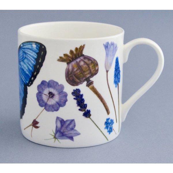 China Flora and fauna mug mainly blue 002