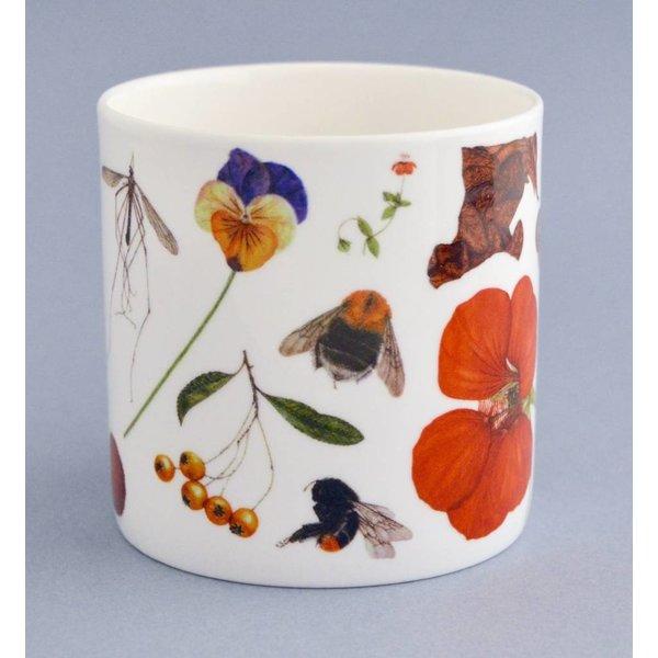 China Flora und Fauna Becher hauptsächlich orange 004