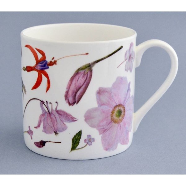 China Flora and fauna mug mainly pink 005