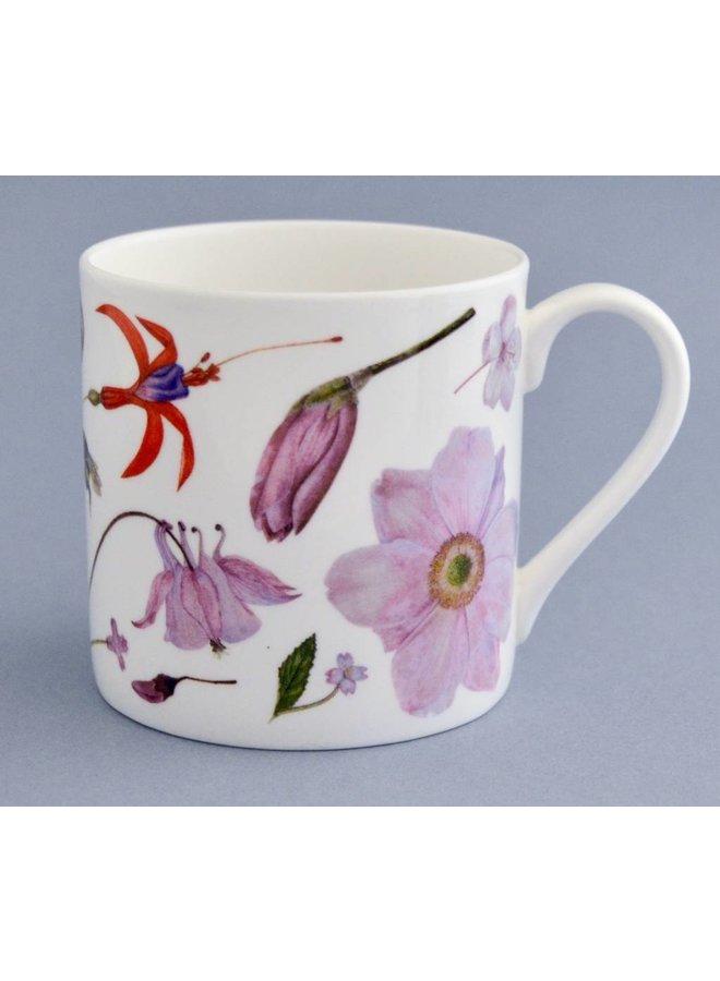 China Flora and fauna mug mainly pink 005