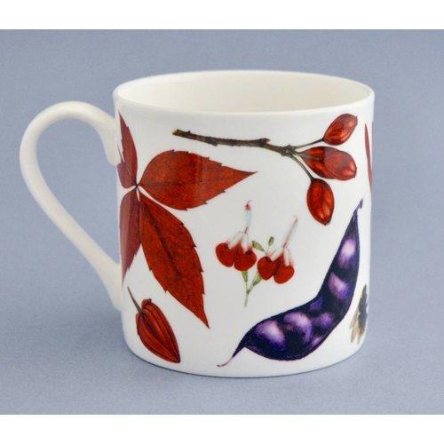 Rachel Pedder-Smith China Flora and fauna mug mainly red 003