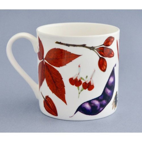 Rachel Pedder-Smith China flora y fauna taza principalmente rojo 003