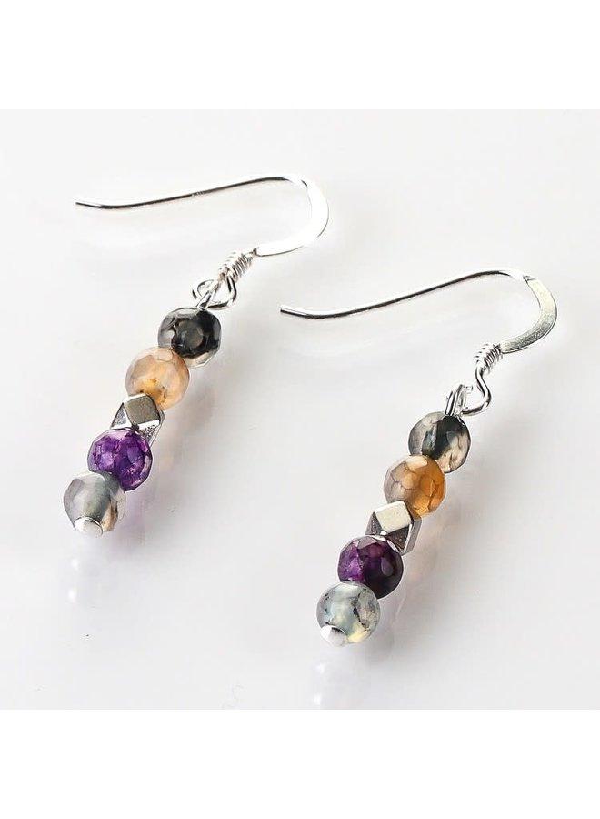 Copy of Rainbow medley  12agate Earrings