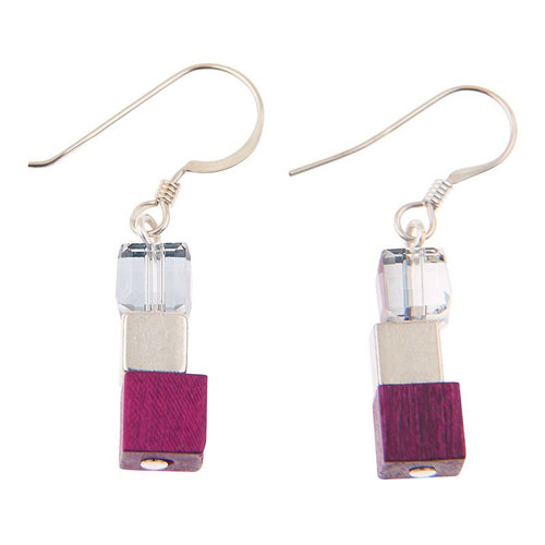 Carrie Elspeth Cerise wooden naturals Earrings