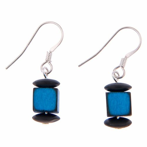 Carrie Elspeth Rainbow  Allsorts Blue Earrings
