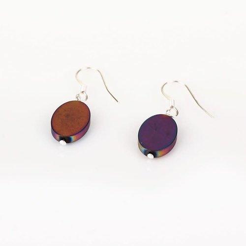Carrie Elspeth Rainbow Opus oval Earrings