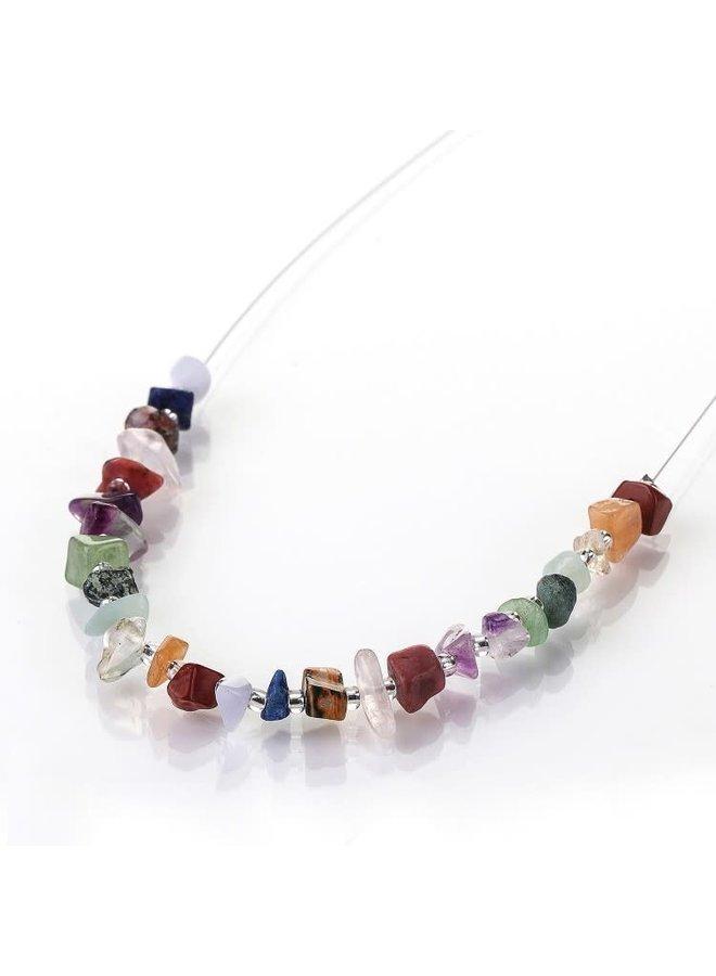 Halskette mit Halbedelsteinen