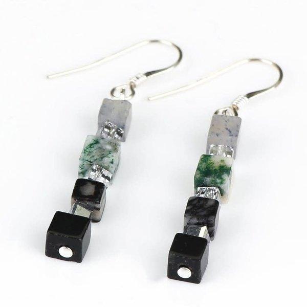 Smokey semi-precious Tones  Earrings